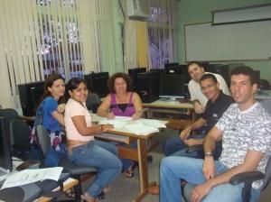 Reunião com coordenação e professores do curso